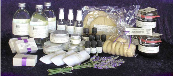 Organic lavender oil and farm products